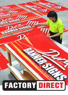 Indoor and Outdoor banner signs
