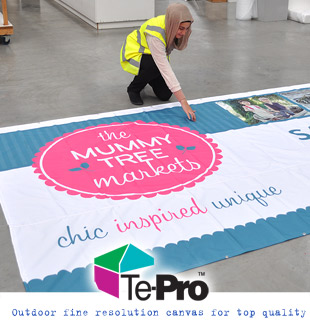 Inspired events come alive with a banner sign