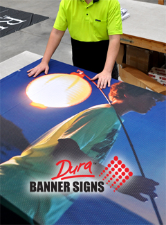 High color output on banner sign