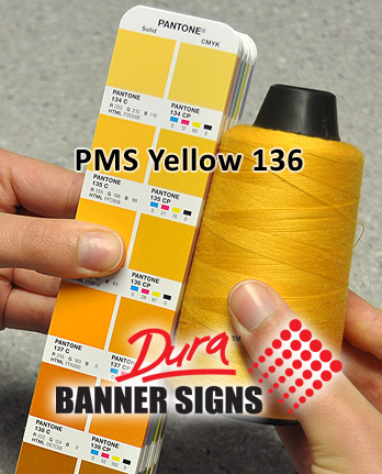 PMS Yellow 136 Sewing Color