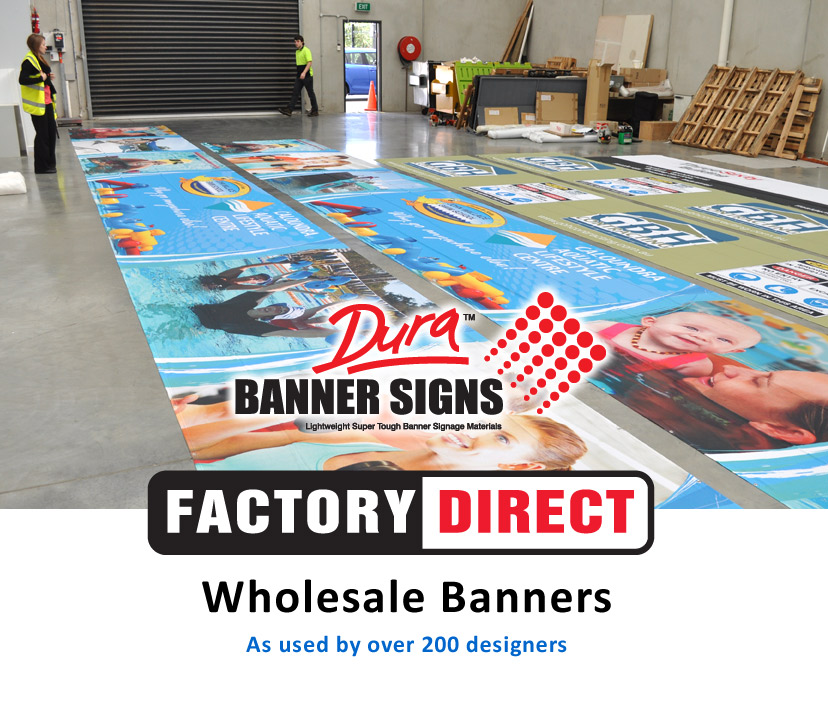 Inside the Banners Factory showing finishing and packaging dept